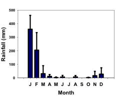 Average annual rainfall at the Ankoatsifaka Research Station.
