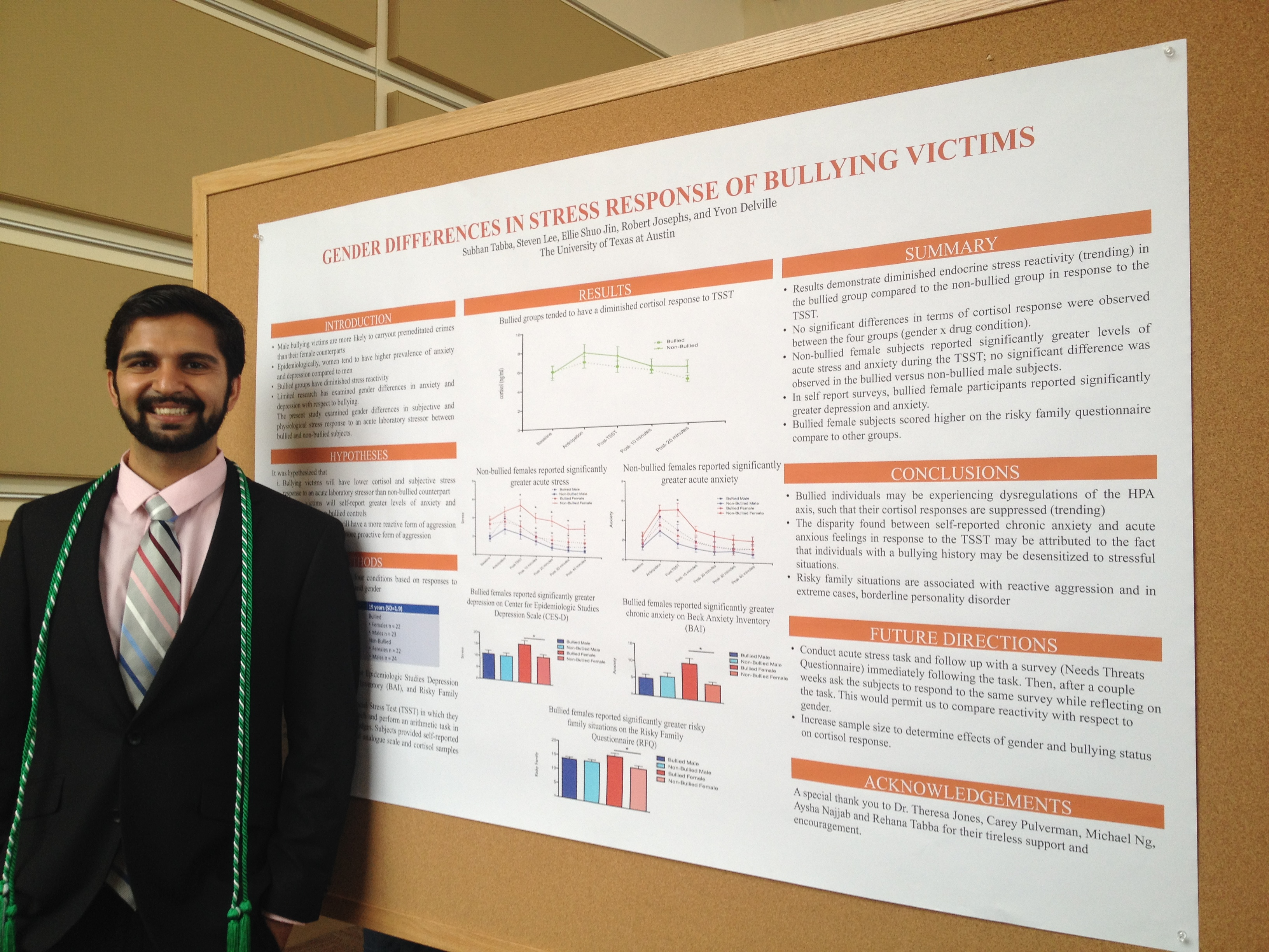 Subhan next to his poster.